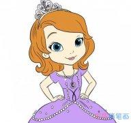 怎么画苏菲亚公主简单漂亮_彩色公主简笔画图片