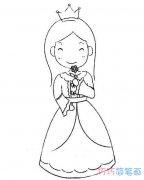 白雪公主素描怎么画简单可爱 白雪公主的画法步骤图片