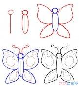 漂亮蝴蝶手绘怎么画简单 可爱蝴蝶的画法简笔画图片
