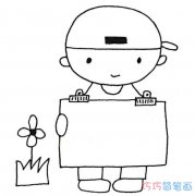 怎么绘画可爱小男孩的画法简笔画教程