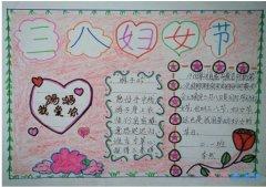 怎么画小学生以三八妇女节为主题的手抄报图片