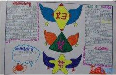 怎么画一年级小学生关于妇女节的手抄报模板图片