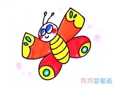 怎么画蝴蝶详细步骤图简笔画教程涂色