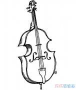 手绘大提琴怎么画简笔画教程好看