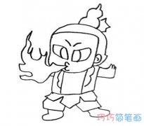 卡通葫芦娃喷火怎么画简单好看 葫芦娃的画法图片