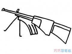 玩具冲锋枪怎么画简单好看 枪的画法图片