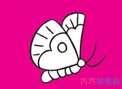 飞舞的蝴蝶简笔画怎么画简单又漂亮