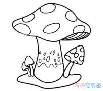 儿童简笔画蘑菇怎么画手绘简单好看