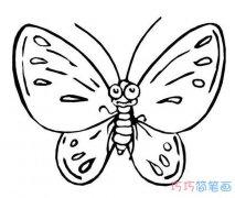 怎样画花蝴蝶手绘简笔画教程漂亮