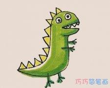 简单乔治恐龙怎么画涂颜色带步骤图
