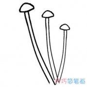 金针菇蘑菇简笔画怎么画简单好看