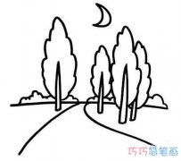 乡间小路怎么画简单 乡间小路简笔画图片