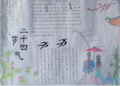 小学生关于二十四节气冬至的手抄报简单漂亮