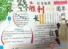 纪念抗战胜利80周年长征手抄报简笔画简单好看