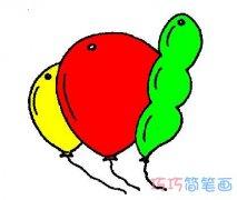 儿童彩色气球怎么画好看 气球简笔画图片