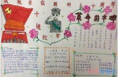 小学生关于庆祝长征胜利八十周年革命手抄报怎么画好看
