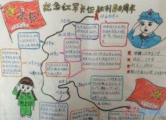 小学生纪念红军长征胜利80周年的手抄报图片简单漂亮