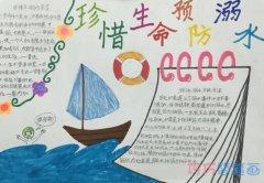 小学生珍惜生命预防溺水夏季安全手抄报怎么画简单