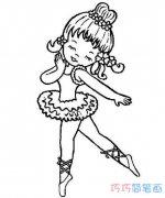 六一儿童节跳舞简笔画怎么画简单漂亮