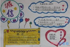 四年级诚实守信 我诚实我快乐手抄报怎么画简单好看