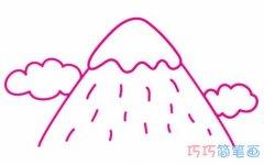 幼儿园一步一步画雪山简笔画怎么画好看