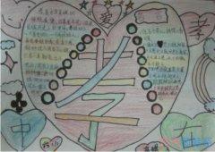 孝是中华民族的传统美德手抄报怎么画简单漂亮