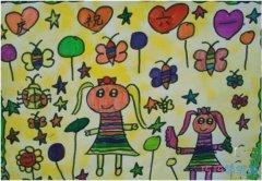 幼儿园庆祝六一儿童节水彩画简单漂亮