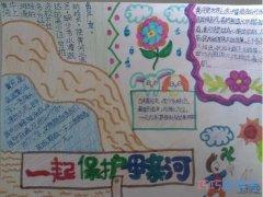 保护中华民族母亲河黄河手抄报内容图片简单漂亮