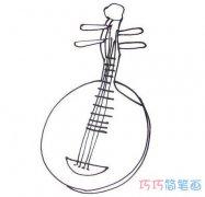儿童月琴简笔画怎么画简单好看