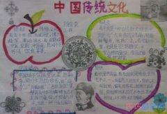传统中华文化中国结,剪纸文化手抄报图片简单漂亮