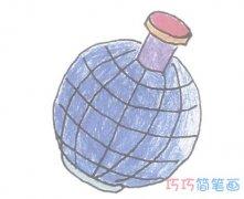 幼儿园卡通地雷简笔画画法步骤图带颜色
