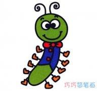 幼儿园彩色毛毛虫简笔画 简单毛毛虫怎么画