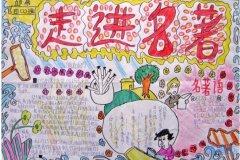 走进名著世界名著的手抄报怎么画简单好看四年级