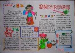 关于传统文化走进中国的手抄报怎么画简单又好看