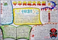 小学生弘扬民族文化中国传统文化手抄报怎么画简单漂亮获奖