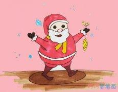教你怎么画彩色圣诞爷爷简笔画步骤简单好看