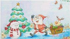 怎么绘画圣诞节主题儿童画带颜色简单漂亮