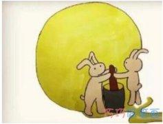 中秋节月亮简笔画画法步骤教程涂颜色