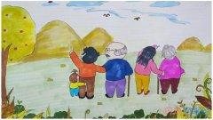 怎么画重阳节爷爷奶奶简笔画步骤教程涂色