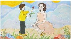 感恩母亲节主题简笔画步骤教程涂颜色漂亮
