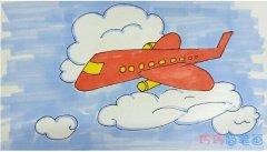 一步一步教你画简单飞机简笔画教程涂颜色漂亮