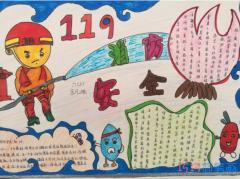 小学六年级关于消防安全消防手抄报简单漂亮