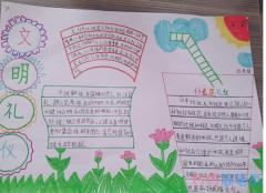 小学文明礼仪在我心手抄报内容图片五年级简单又漂亮