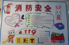 关于消防安全119校园安全的手抄报怎么画简单又漂亮