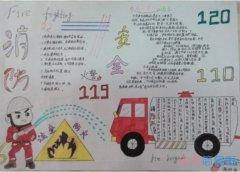 小学生消防安全,消防119的手抄报简单漂亮一等奖
