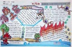 关于消防之窗消防安全的手抄报简笔画简单又漂亮