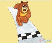 二年级熊大简笔画怎么画涂颜色简单步骤