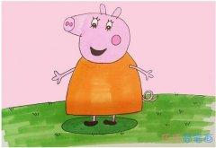 教你一步一步绘画小猪佩奇简笔画教程涂色简单