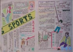 小学生关于绿色奥运体育手抄报怎么画简单漂亮优秀