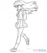 简单漂亮美少女的画法步骤教程手绘